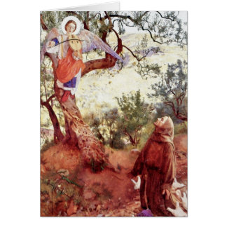 Saint Francis with Angel Greeting Card