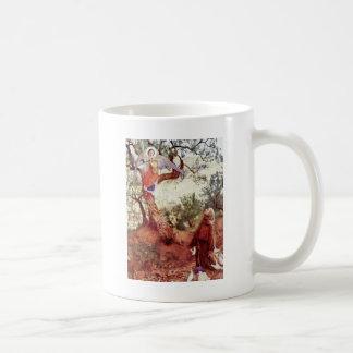 Saint Francis with Angel Classic White Coffee Mug