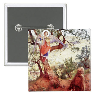 Saint Francis with Angel Pinback Button