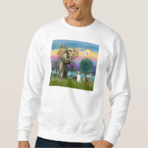 Saint Francis with Animals - custumizable Sweatshirt