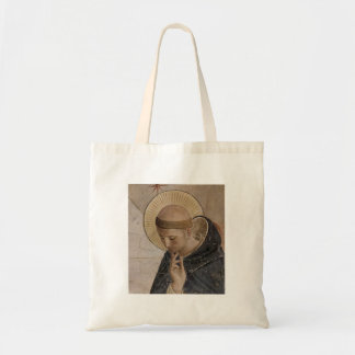 Saint Francis with Head Bowed Canvas Bags