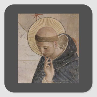 Saint Francis with Head Bowed Square Sticker