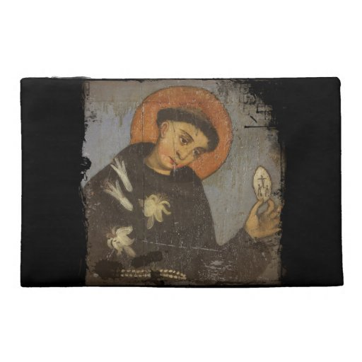 Saint Francis with White Lilies Travel Accessory Bag