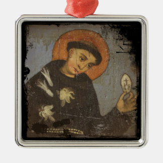 Saint Francis with White Lilies Christmas Ornaments