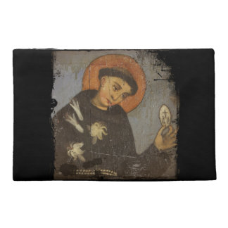 Saint Francis with White Lilies Travel Accessories Bags