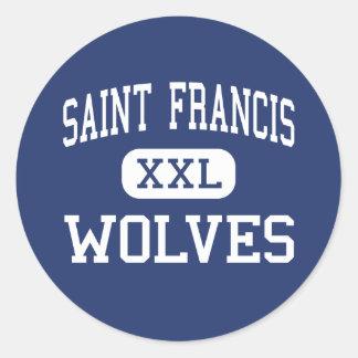 Saint Francis - Wolves - Catholic - Gainesville Round Stickers