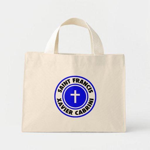 Saint Francis Xavier Cabrini Canvas Bags