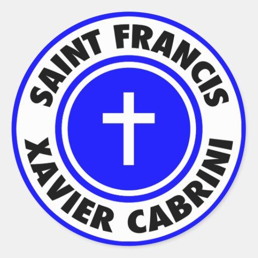 Saint Francis Xavier Cabrini Classic Round Sticker
