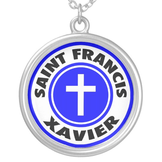 Saint Francis Xavier Silver Plated Necklace