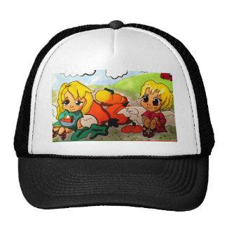 Saint Gabriel and Michael Archangels Eating Pie Trucker Hat
