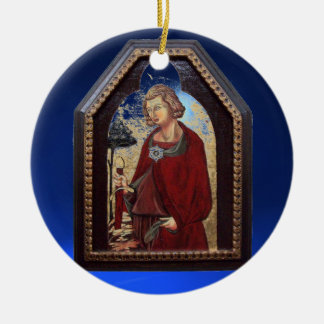 SAINT GALGANO / LEGEND OF THE SWORD IN THE ROCK Double-Sided CERAMIC ROUND CHRISTMAS ORNAMENT