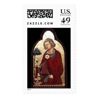 SAINT GALGANO / LEGEND OF THE SWORD IN THE ROCK POSTAGE STAMP