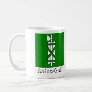 Saint-Gall, Suisse Drapeau Flags Coffee Mug