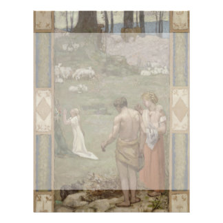 Saint Genevieve as Child in Prayer by Puvis Personalized Flyer