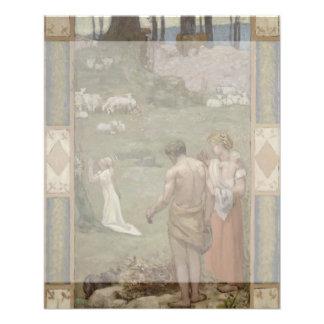 Saint Genevieve as Child in Prayer by Puvis Flyer