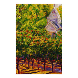 Saint Genevieve Chapel at Butterfly Creek Winery Stationery Paper