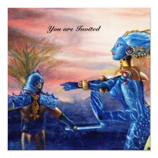 SAINT GEORGE AND ALIEN DRAGON CARD