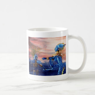 SAINT GEORGE AND ALIEN DRAGON COFFEE MUG
