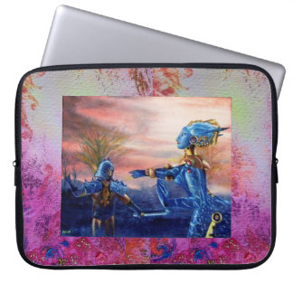 SAINT GEORGE AND ALIEN DRAGON LAPTOP SLEEVE
