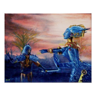 SAINT GEORGE AND ALIEN DRAGON POSTER