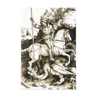 SAINT GEORGE AND DRAGON CANVAS PRINT