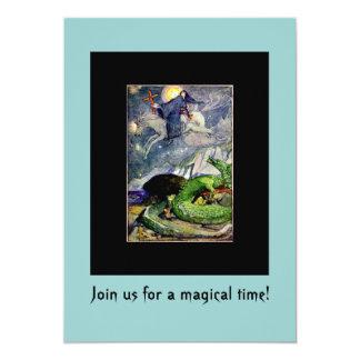 Saint George and Dragon invitations