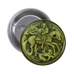 SAINT GEORGE AND DRAGON MEDALLION BUTTON