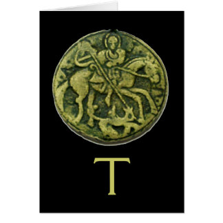SAINT GEORGE AND DRAGON MEDALLION GREETING CARDS