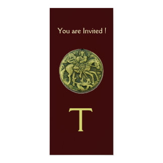 SAINT GEORGE AND DRAGON MEDALLION MONOGRAM brown Card