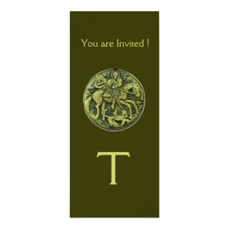 SAINT GEORGE AND DRAGON MEDALLION MONOGRAM CARD