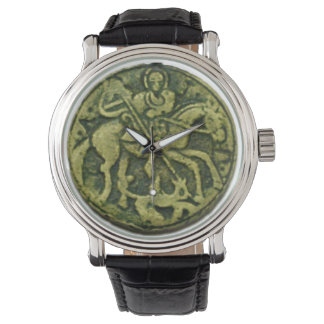 SAINT GEORGE AND DRAGON MEDALLION WRISTWATCH