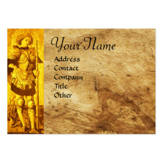 SAINT GEORGE AND DRAGON Monogram Business Card Templates