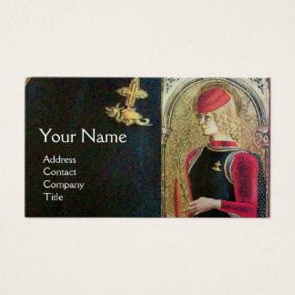SAINT GEORGE AND DRAGON ,Red,Black,Gold Metallic Business Card