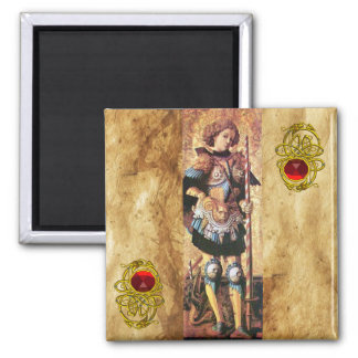 SAINT GEORGE AND DRAGON ,red ruby Refrigerator Magnets