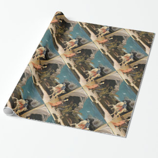 SAINT GEORGE AND DRAGON GIFT WRAP PAPER