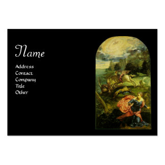 SAINT GEORGE AND THE DRAGON,black Business Cards
