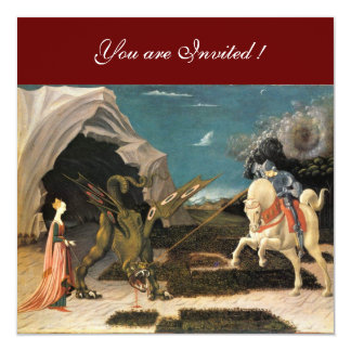 SAINT GEORGE AND THE DRAGON,brown ,blue red black Card