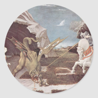 Saint George And The Dragon Classic Round Sticker