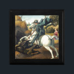 "Saint George and the Dragon Keepsake Box<br><div class=""desc"">Saint George and the Dragon, by the Italian Renaissance master, Raphael. It was completed in 1506. The art work was first painted for the court of Urbino. It depicts a Christian Roman soldier (St. George) who defended the daughter of a king that was a pagan, through stabbing the dragon. This...</div>"