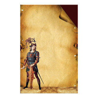 SAINT GEORGE  ANTIQUE PARCHMENT CUSTOMIZED STATIONERY