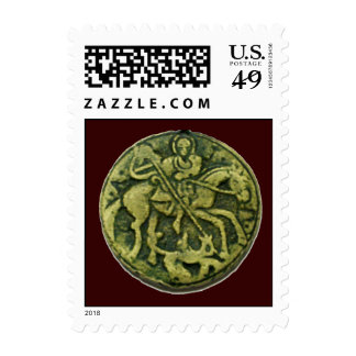SAINT GEORGE, brown Postage