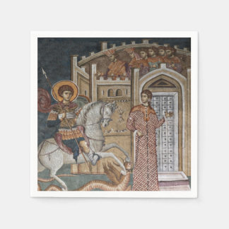 Saint George by the Castle Paper Napkin