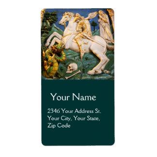 Saint George,Dragon and Princess Custom Shipping Label