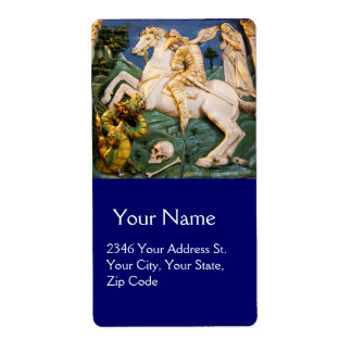Saint George,Dragon and Princess Personalized Shipping Labels