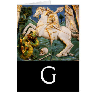 Saint George,Dragon and Princess Monogram Cards