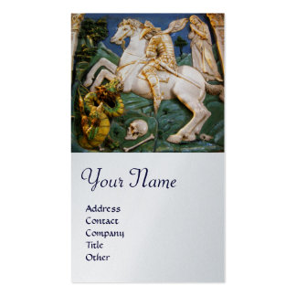 Saint George,Dragon and Princess Monogram Platinum Business Card