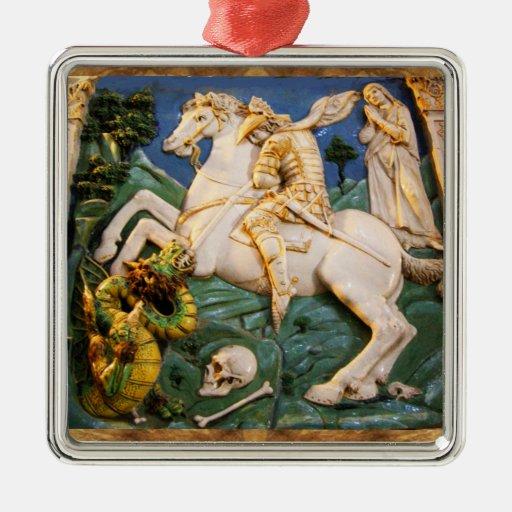 Saint George,Dragon and Princess Christmas Tree Ornament