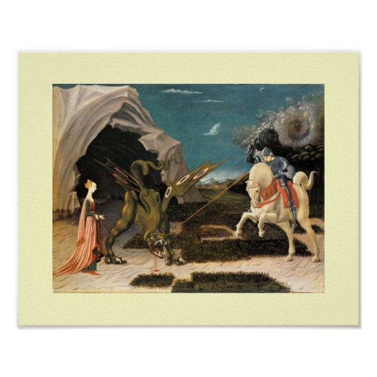 SAINT GEORGE, DRAGON AND PRINCESS POSTER