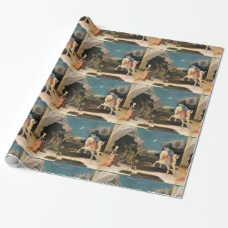 SAINT GEORGE, DRAGON AND PRINCESS WRAPPING PAPER