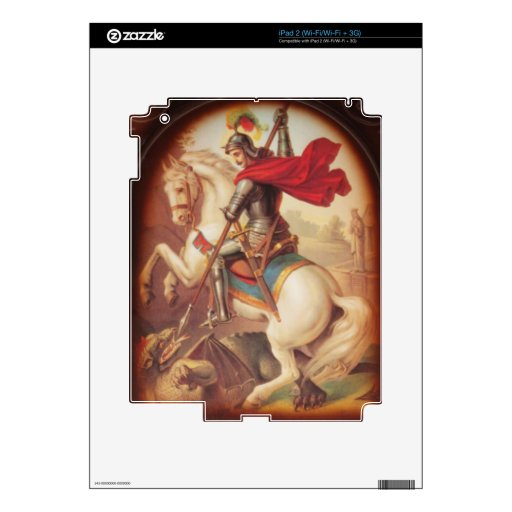 Saint George Killing the Dragon art painting iPad 2 Decals